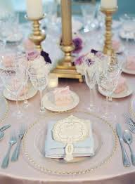 Blue And Gold Table Setting Reception Dccor Photos Light Pink Blue And Gold Place Setting