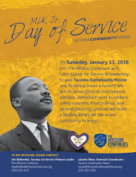 cleaning service advisement flyers mlk day of service opportunity uw tacoma