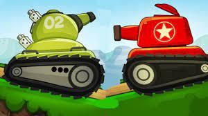 Ô tô hoạt hình - Xe tăng chiến đấu bắn nhau trên đồi - Xe tăng đồ chơi c...