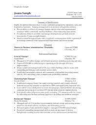 Resume Format Hotel Management Massage Therapist Resume Sample