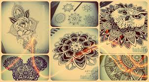 эскизы тату мандала лучшие рисунки для нанесения татуировки
