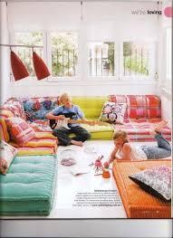 Gigantic floor cushions / kid's rumpus room / floor pillows- and if they  fall off