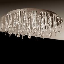 crystal flush mount chandelier. Brizzo Lighting Stores. 34\u2033 Miraggio Modern Crystal Flush Mount . Chandelier L
