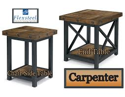 end table and coffee table flexsteel carpenter collection