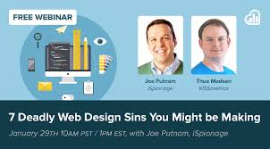 Webinar Design 7 Deadly Web Design Sins Webinar With Kissmetrics