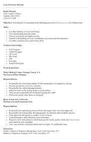 Loan Processor Cover Letter Printable Sample Loan Template Form
