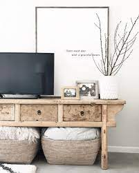how to decorate around a tv bigger