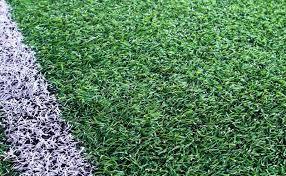 soccer field grass. Green Artificial Grass Soccer Field For Background, Stock Photo