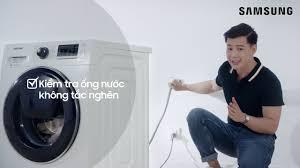 Máy giặt cửa ngang gặp tình trạng nước yếu