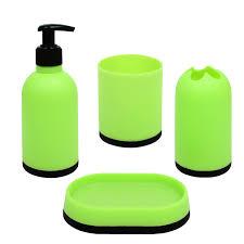 Badset 4 Teilig Badaccessoires Seifenspender Becher Badezimmer Set