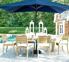 pottery barn umbrella stand patio erfly dining table outdoor review