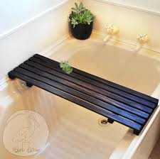 bathtub shelf caddy bathroom delightful tray superb bath tub wooden for nz oil see