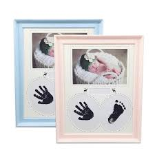 pretty baby photo frame newborn handprint footprint non toxic ink pad kids picture frame birthday gift room decorations uk 2019 from hilery