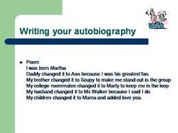 autobiography outline authorstream