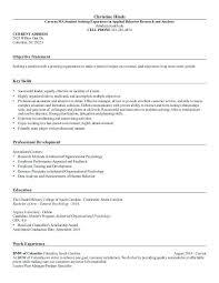 Psychology Sample Resumes I O Psychologist Sample Resume Mwb Online Co