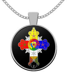esoteric necklace rosicrucian lamen rose cross symbol occult gift accessories