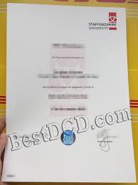 Sample Degree Certificates Of Universities The Sample Of Latest Staffordshire University Fake Degree