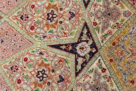 intricate and beautiful round silk vintage tabriz persian rug 51137 knots per square inch kpsi