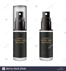 Spray Bottle Label Design Realistic Black Bottle Mock Up Of Cosmetic Spray Jar