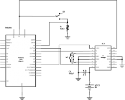lab dc motor control using an h bridge itp physical computing schematic diagram of an arduino connected to an h bridge to control a dc motor