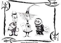 Nightmare Before Christmas Coloring Pages For Kids Printable