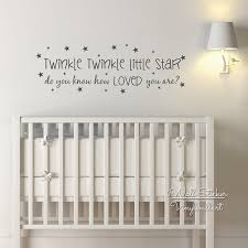 Quotes wall stickers Baby Nursery Quote Wall Sticker Twinkle Twinkle Little Star Quote 65