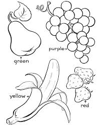 Printable Fruit Coloring Pages For Kids Coloringstar