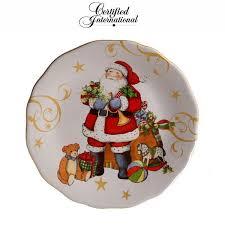 """Заусочная <b>тарелка</b> """"<b>Винтажный Санта</b>.Мячик"""" 23 см, керамика ..."""