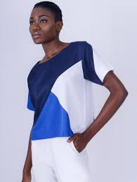 Yhebe Design Geometric Top Crop Top Multicolour None For Her Cotton