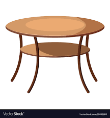 round table icon cartoon style vector image