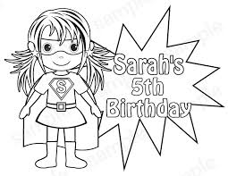 Small Picture Personalized Printable SuperHero Super hero Girl Birthday Party