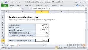 daily interest calculator excel excel formula calculate interest for given period exceljet