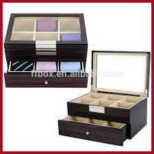 tie storage box diy photos a large number of high glass lid wooden necktie gift display tie storage box