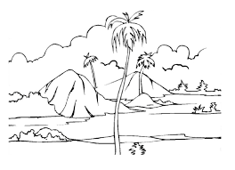 Small Picture Island Landscape Coloring Pages Coloring Pages