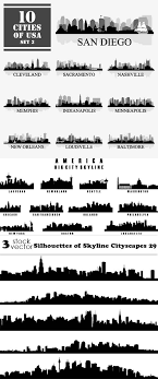 Vectors Silhouettes Download Vectors Silhouettes Of Skyline Cityscapes 29 Softarchive