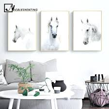 horse wall art pictures animal white horse wall art canvas posters and prints painting wall pictures
