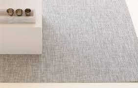 ikat woven floormat in white silver