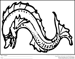 Sea Monster Coloring Page With Sea Monster Coloring Pages