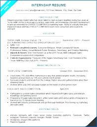 Simple Internship Resume Sample College Students University Student ...
