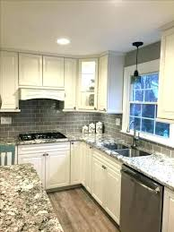 backsplash glass tile grey and white tile glass subway tile glass subway tile kitchen white kitchen