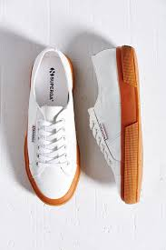 white low top sneakers superga 2750 leather gumsole low top sneaker