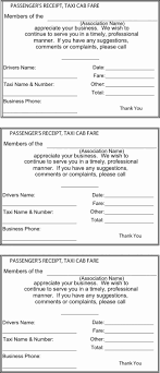 Taxi Service Invoice Format Template Bill Fine Receipt India