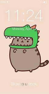 Pusheen Cat Cute Kawaii Wallpaper Lock ...