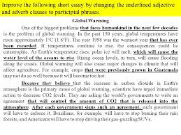 a used car participial phrases ppt video online  improve the following short essay by changing the underlined adjective and adverb clauses to participial phrases