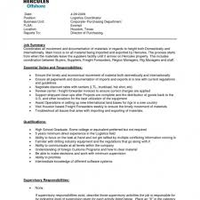 Logisticsanager Job Description Resume Template Logistic Samples Jd