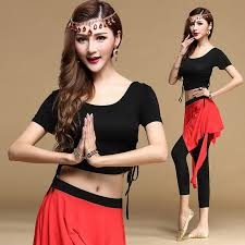 quality belly dance costume set short sleeves long sleeves bellydance clothing indian yoga dance clothes