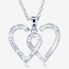 entwined heart necklace made with swarovski sup sup crystals