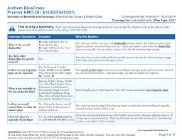Anthem Bluecross Premier Hmo 20 10 25 45 20