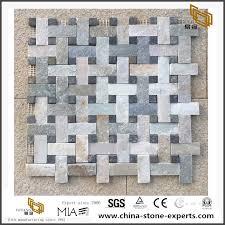 natural slate mosaic set stone thin veneer for wall cladding hot