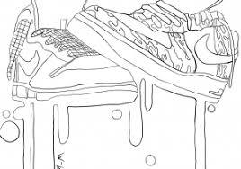 Disegno Di Scarpe Nike Jordan Da Colorare Disegni Da Colorare E Con